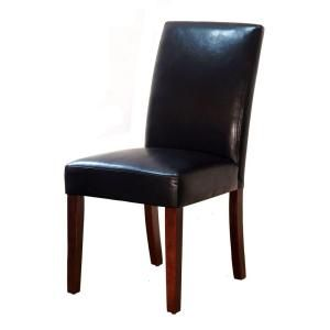 Home Decorators Collection Brexley Espresso Bonded Leather Parsons Dining  Chair