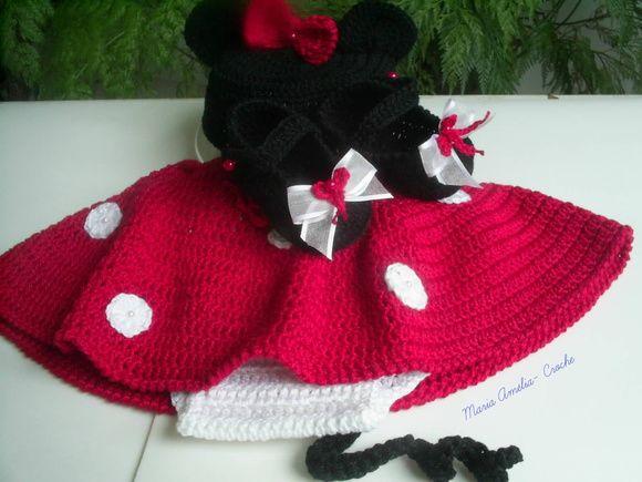Minnie Bebê - Newborn ( Vermelha)