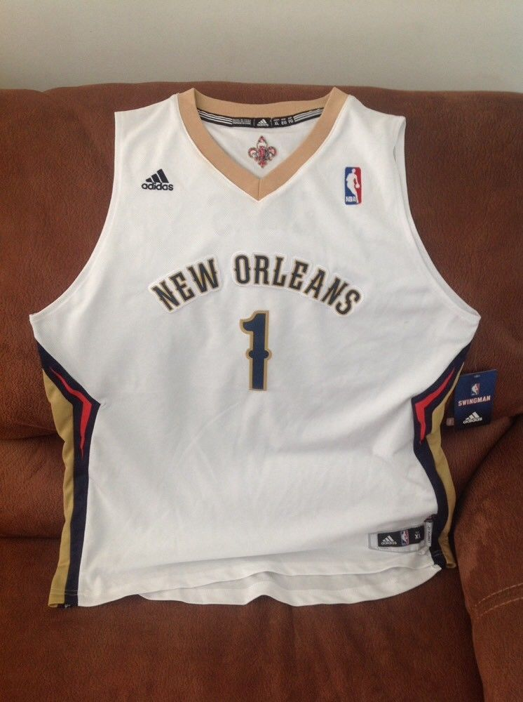 adidas new orleans pelicans tyreke evans  1 nba jersey NWT size XL Lenght2  youth  b6f1262db