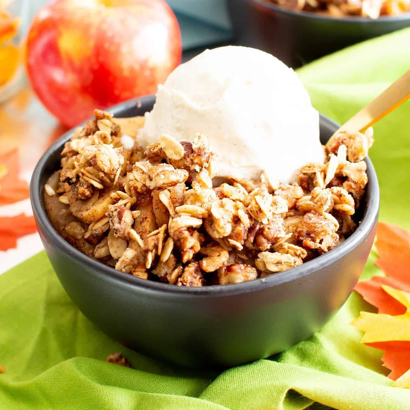 Vegan Gluten Free Cinnamon Apple Crisp With Oats (Dairy
