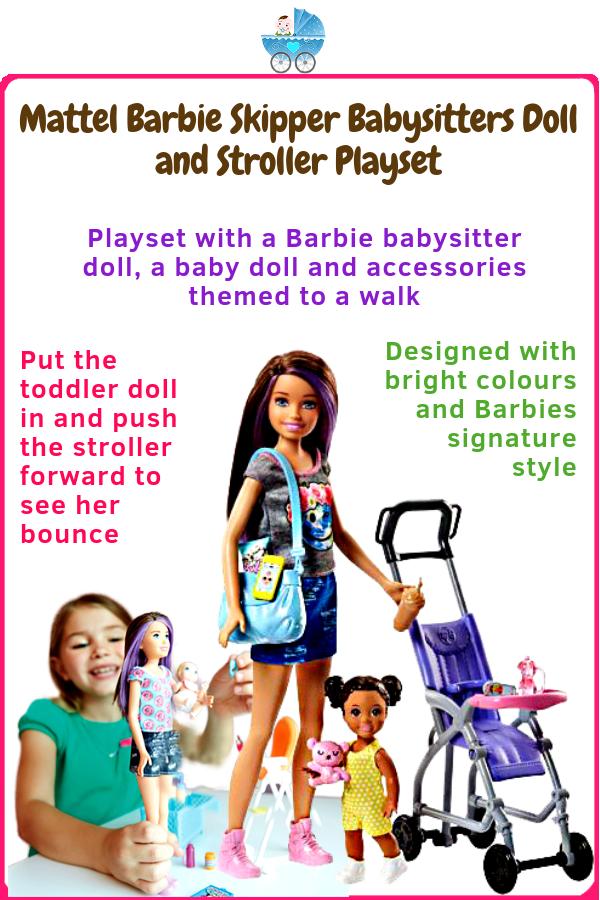 Mattel Barbie Skipper Babysitters Doll and Stroller