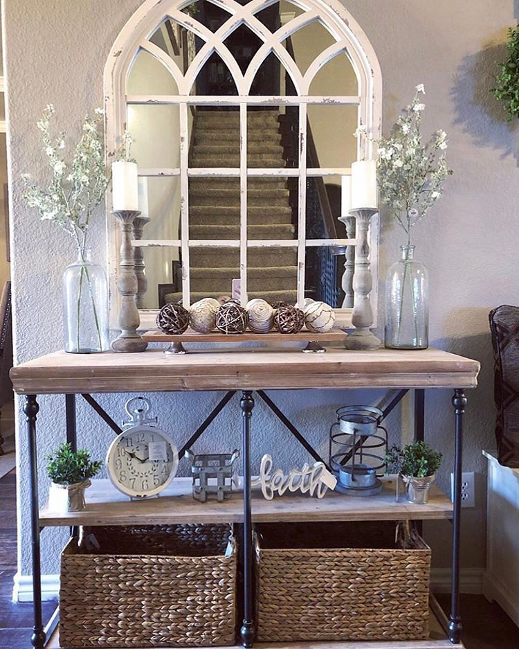 Our Favorite Arch Mirror And Console Table Are At It Again We Love This Look So Much W Entryway Console Table Kirkland Home Decor Mirror Decor Living Room