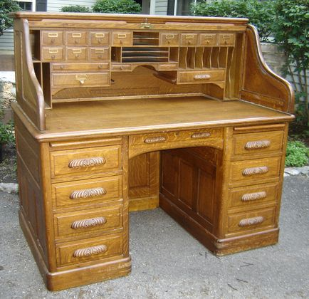 Antiques Quarter Sawn Oak S Curve Roll Top Desk Vintage - Oak Antique Desk - Best 2000+ Antique Decor Ideas