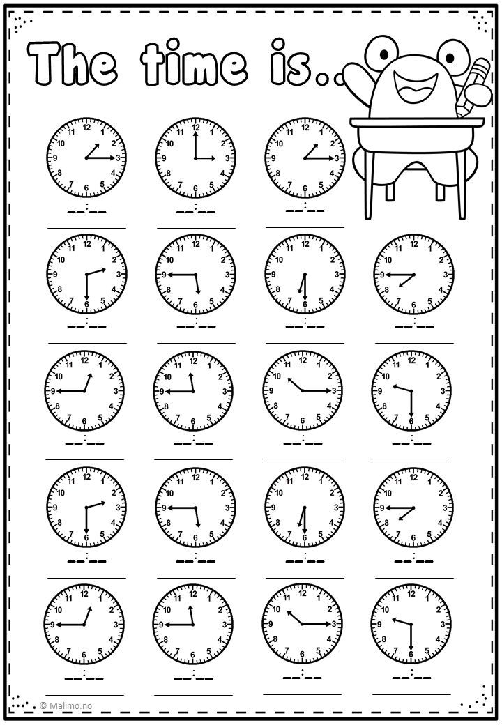 Telling Time Practice Page Malimo Mode Time Worksheets Telling Time Worksheets Kids Math Worksheets