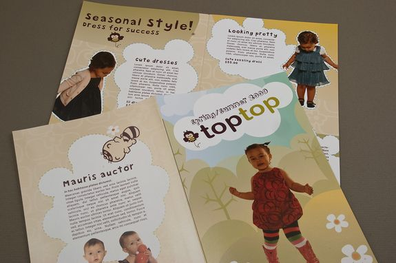 Cute Kids Apparel Brochure Template This Brochure Could Be Used - Mini brochure template