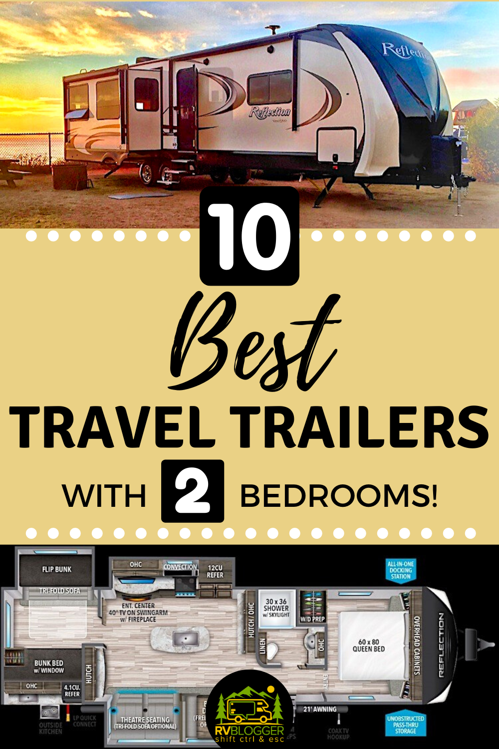 10 Best Travel Trailers with 2 Bedrooms – RVBlogger