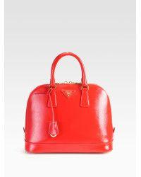 e80cc84d6af1 Women's Red Saffiano Vernice Bugatti Top Handle Bag | Leather Goods ...