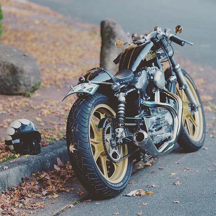 95 883 Sportster By Nanakon7 Looking So Fine Love That 19 Inch Rear Harley Harleydavidson Spor Sportster Cafe Racer Sportster Bobber Custom Sportster