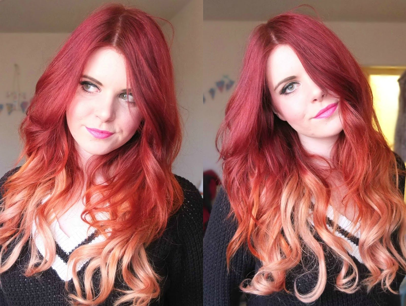 dirty looks hair extensions review for red dip dye hair