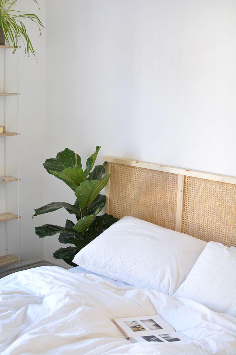 DIY cane headboard IKEA hack #ikeaideen