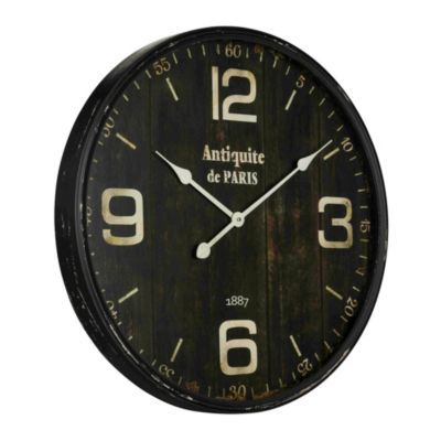 Paris Antique Clock 179 Ballard Designs Joanna Says That Antiques Such As Clocks Tend To Look Better On Wh Wall Clock Metal Wall Clock Oversized Wall Clock