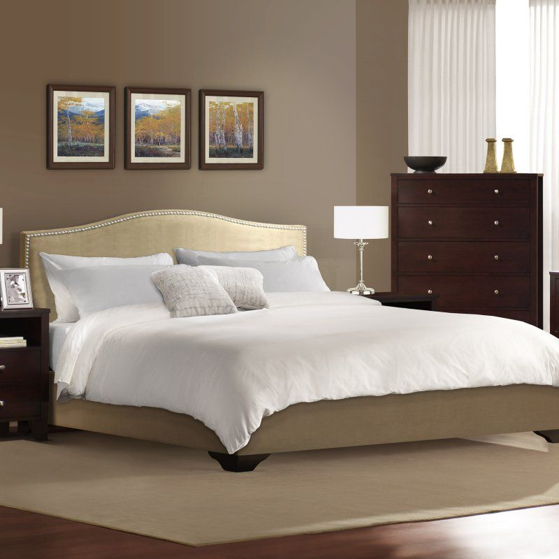 Lifestyle Solutions Magnolia Upholstered Low Profile Bed