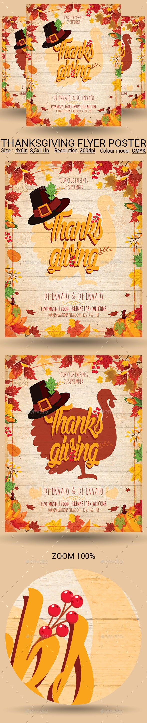 Thanksgiving Flyer Poster Template Psd Download Flyer Templates