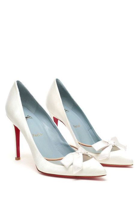 e5bff338f21b Christian Louboutin White Love Me Bridal Shoes