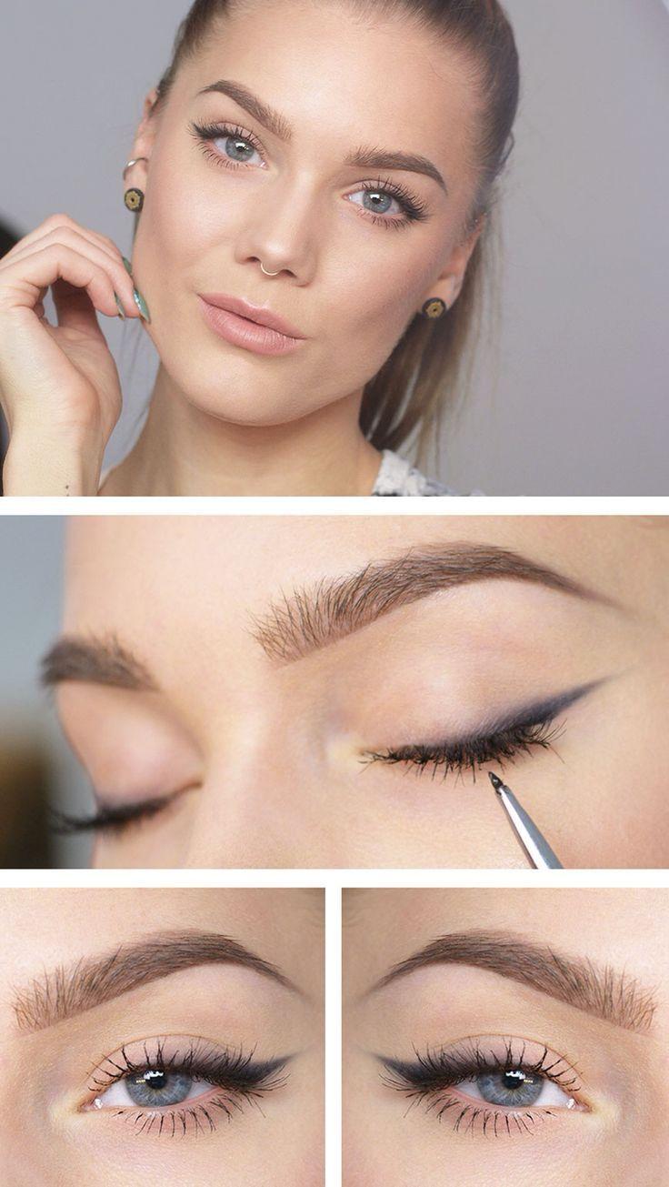 Photo of simple ojo de gato Simple Wedding Makeup Cat Eye simple