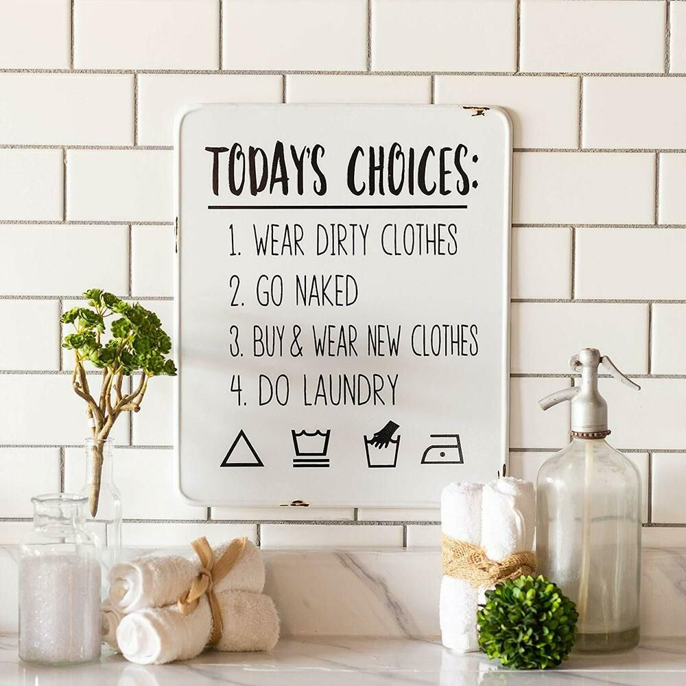 Metal Laundry Sign Today S Choices Laundry Room Plaque Decorative Wall Art Decor Vipssci In 2020 Laundry Signs Wall Art Decor Wall Decor