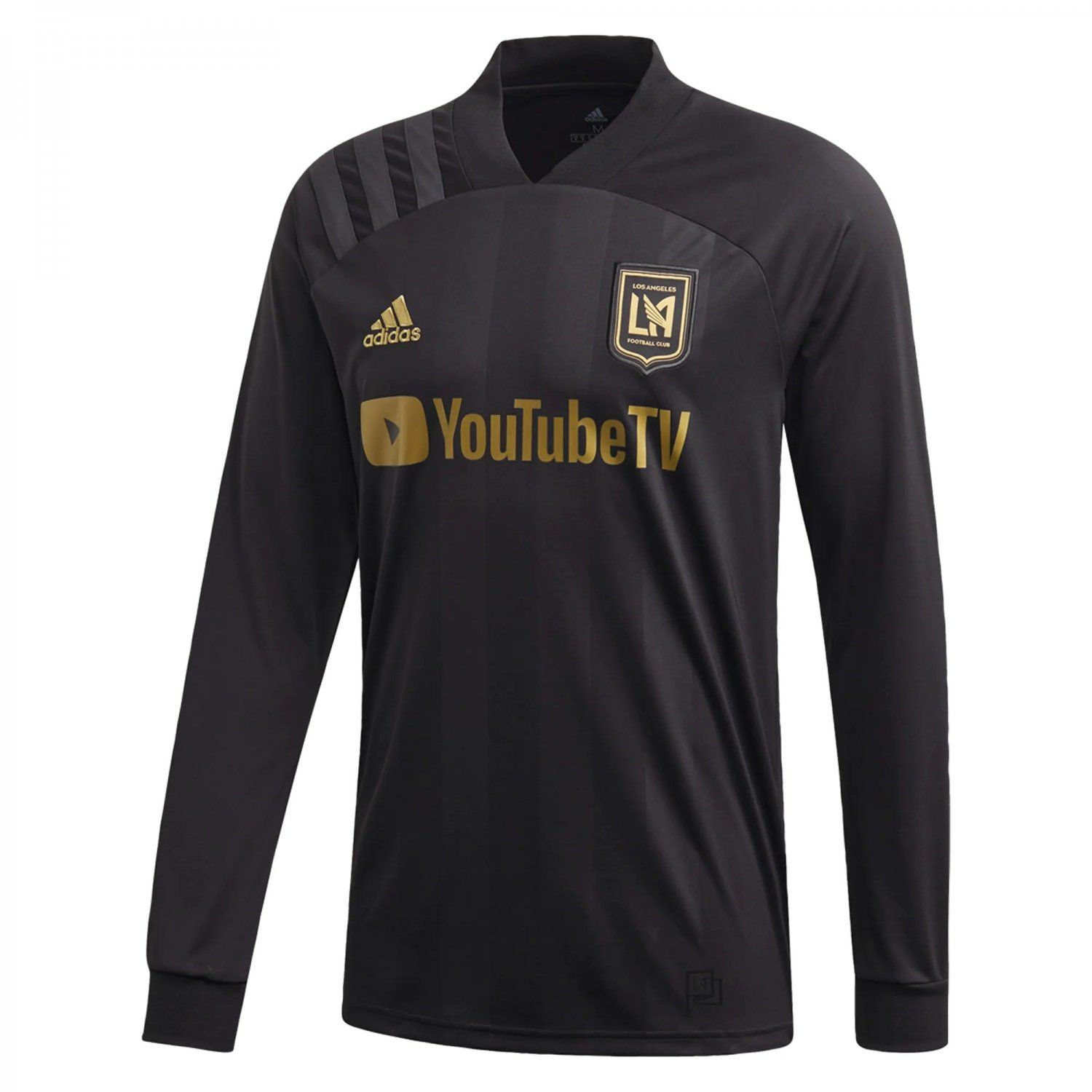 Lafc 2020 2021 Long Sleeve Home Jersey By Adidas Black In 2020 Black Adidas Long Sleeve Tshirt Men Long Sleeve