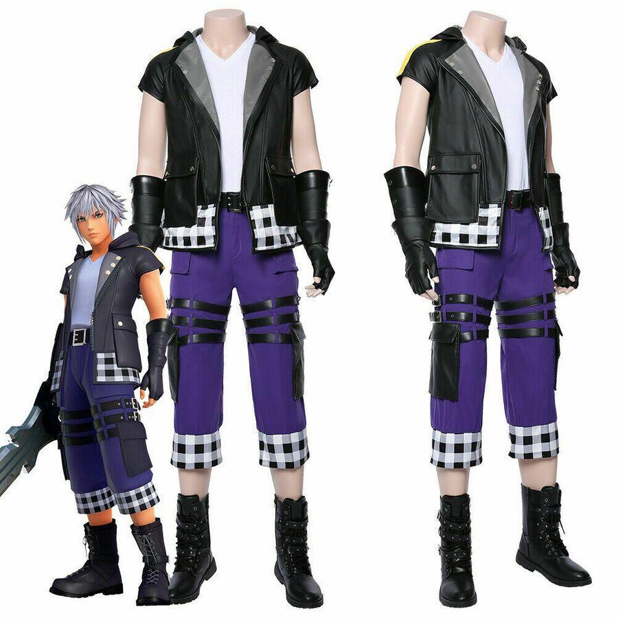 Riku Kingdom Hearts III Cosplay Riku Costume Outfit Uniform Halloween Full Set
