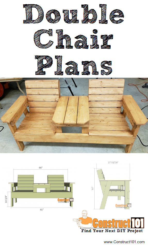 Fine Double Chair Bench Plans Step By Step Plans Bench Plans Caraccident5 Cool Chair Designs And Ideas Caraccident5Info