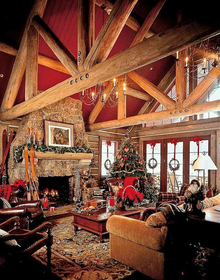 Pretty log home living room.   Log home decorating, Log ...