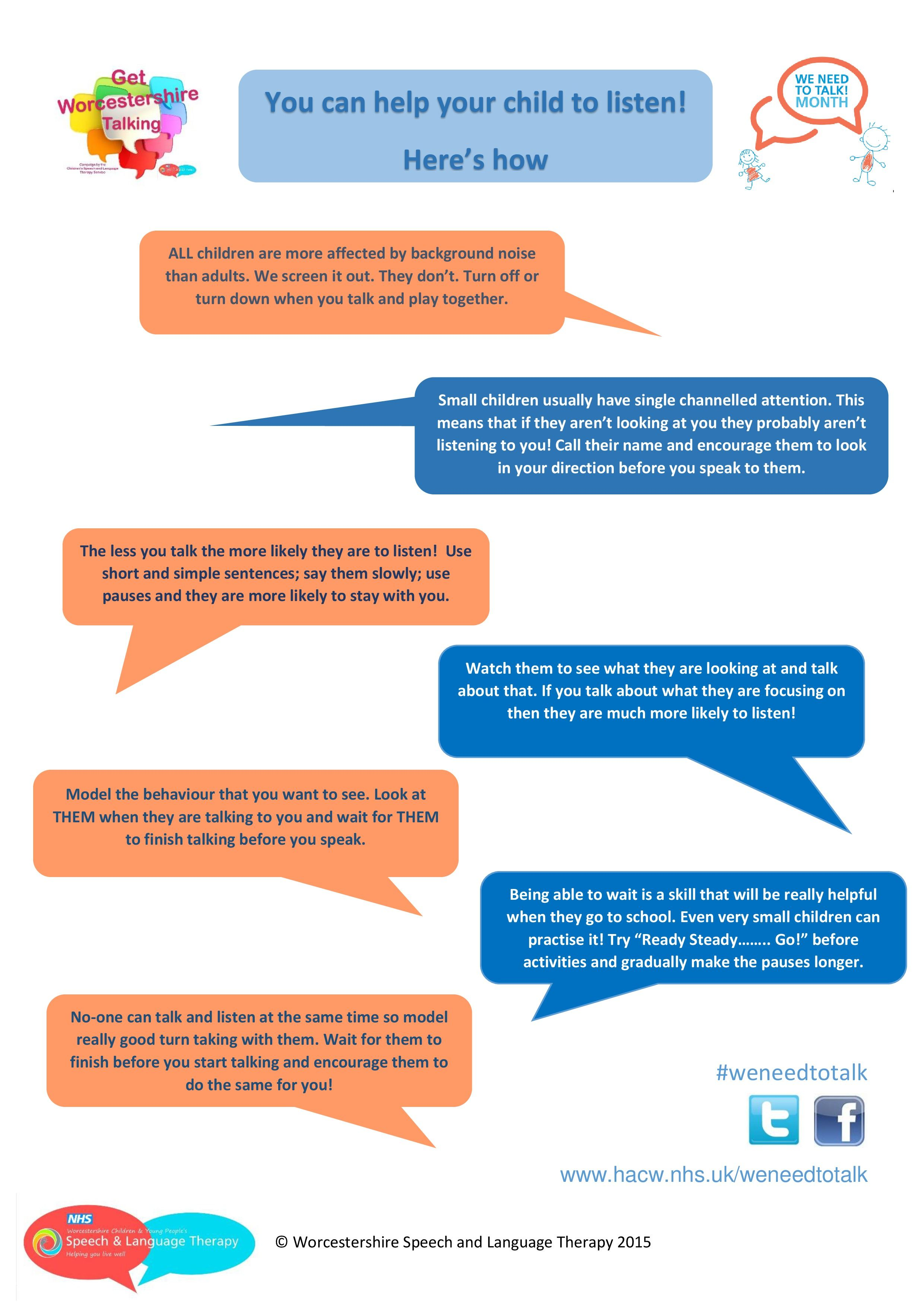 Tips For Helping Children To Listen