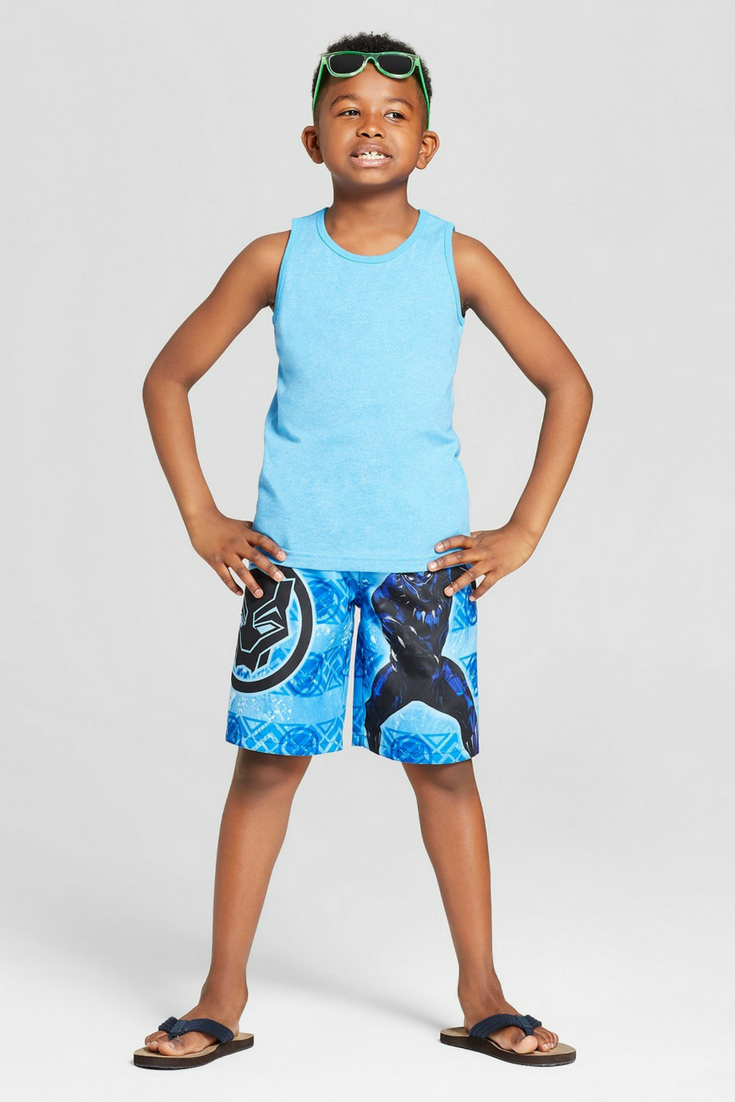 ef2d39e3f0 Boys' Marvel Black Panther Swim Trunks | #Swimwear #Swimtrunks #BlackPanther  #Superhero #Target#affiliatelink