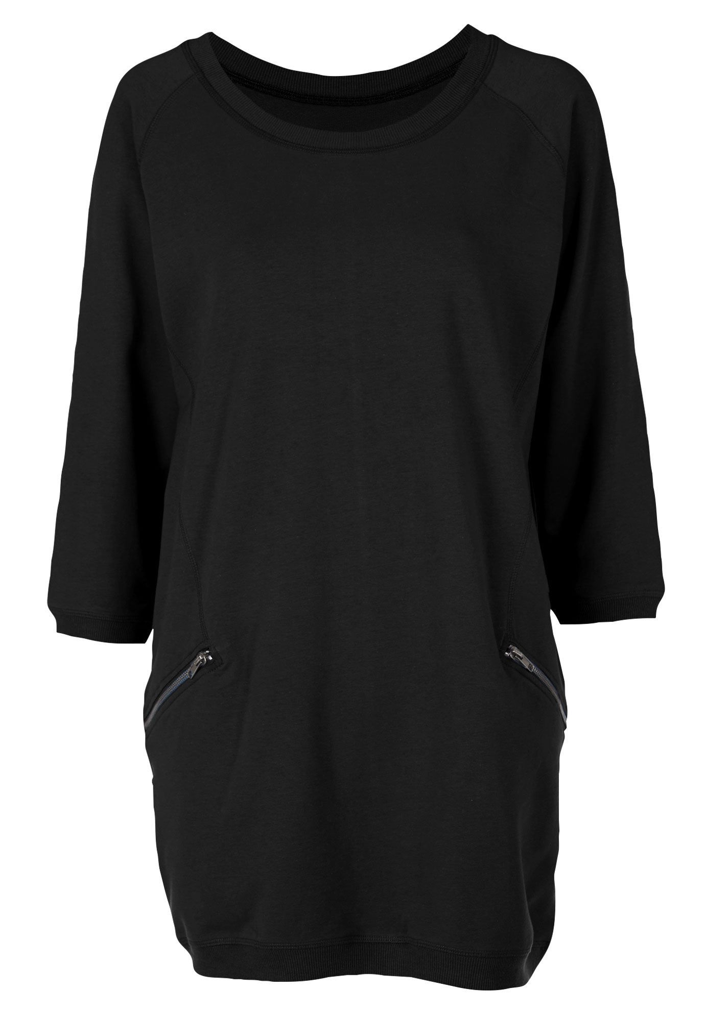 4ba5d727e4a6 French Terry Zip Pocket Tunic by ellos - Women's Plus Size Clothing ...