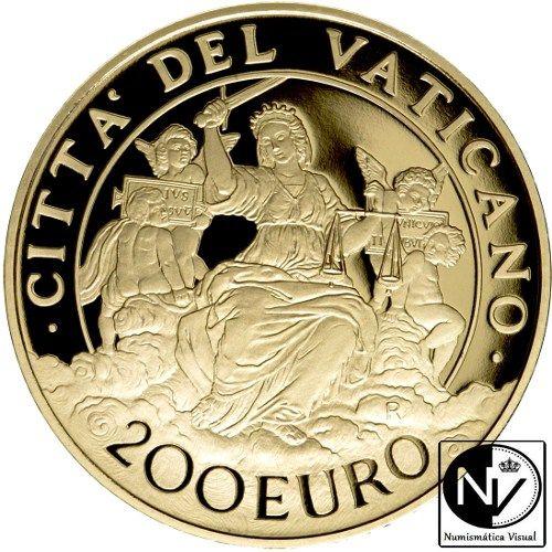 Vaticano 200€ 2016 «Las virtudes cardinales: La Justicia»