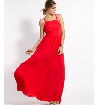 7ee52dd49308 Maxi Φορεμα με Κορσέ Πλάτη και Cups - Κοραλί-Κόκκινο