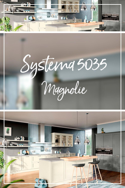 Magnolie Kuche Topmodernes Design Verleiht Der Systema 5035 Besondere Klasse Kuche Einbaukuche Graue Kuche