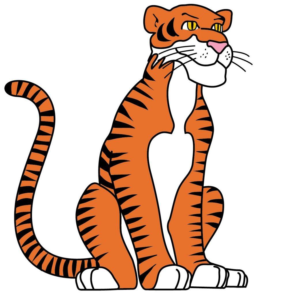 A Tiger Cartoon Clip Art