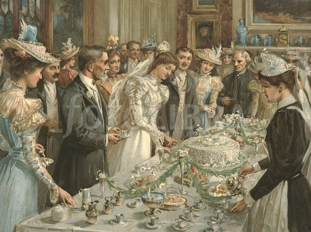 the victorians made the wedding cake available to the masses and soon with the number of
