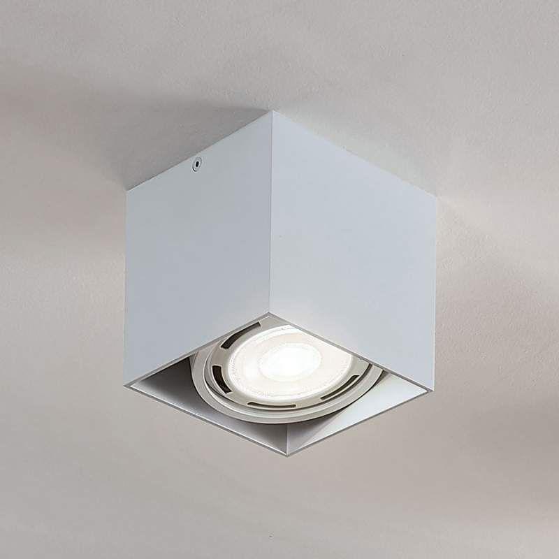 Led Downlight Rosalie Dimbaar 1 Lamp Hoekig Wit Plafondlamp Led Lampen