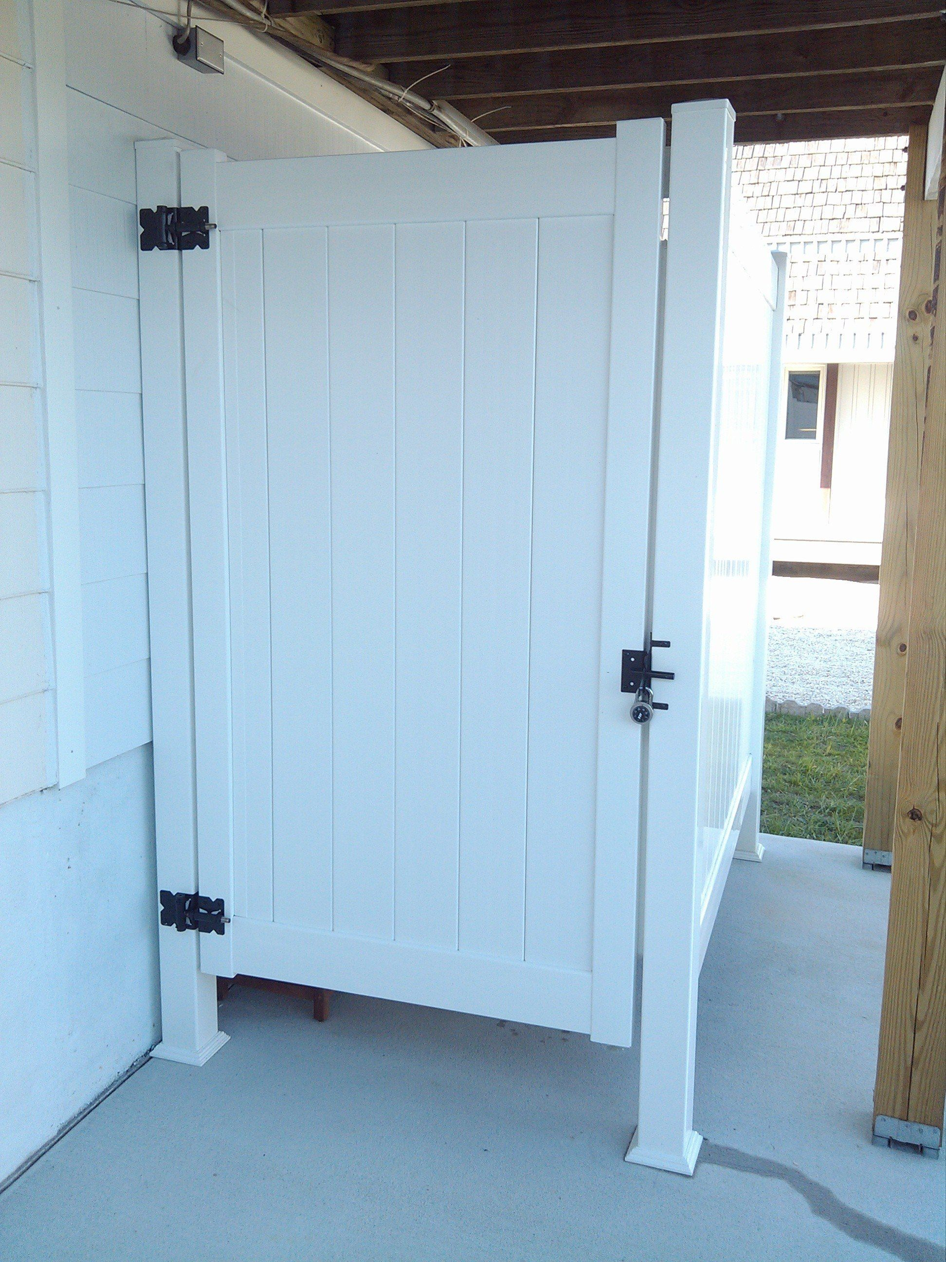 Outdoor Shower Enclosures Photo Gallery | Dennisville Fence ...