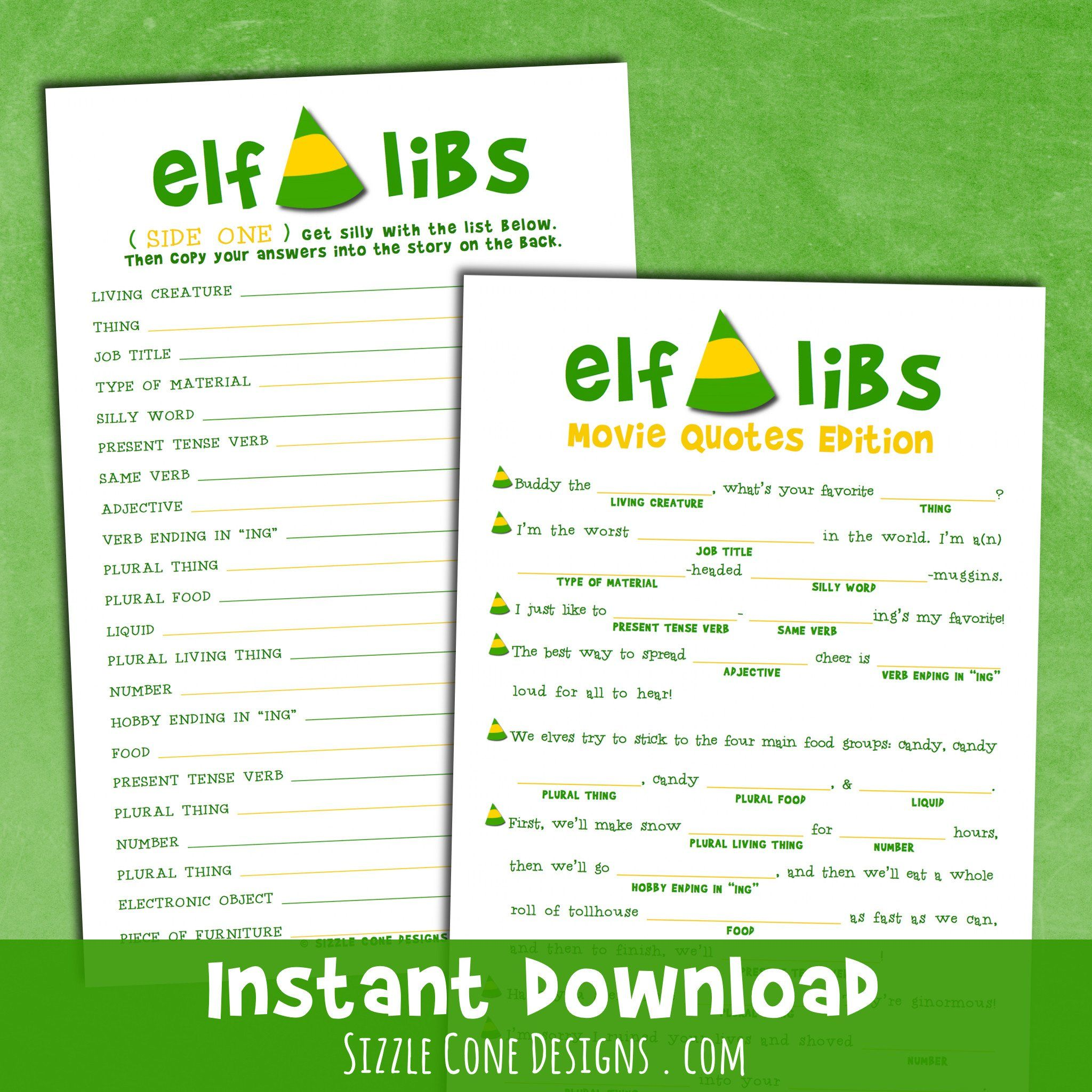 Buddy The Elf Mad Libs