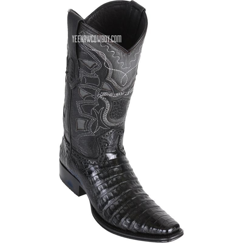 40e923aa68b Men's Los Altos Caiman Belly Boots European Square Toe Handcrafted ...