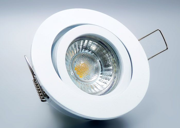 LED #Einbaustrahler Set mit Marken GU10 LED Spot LC Light 5 Watt 9