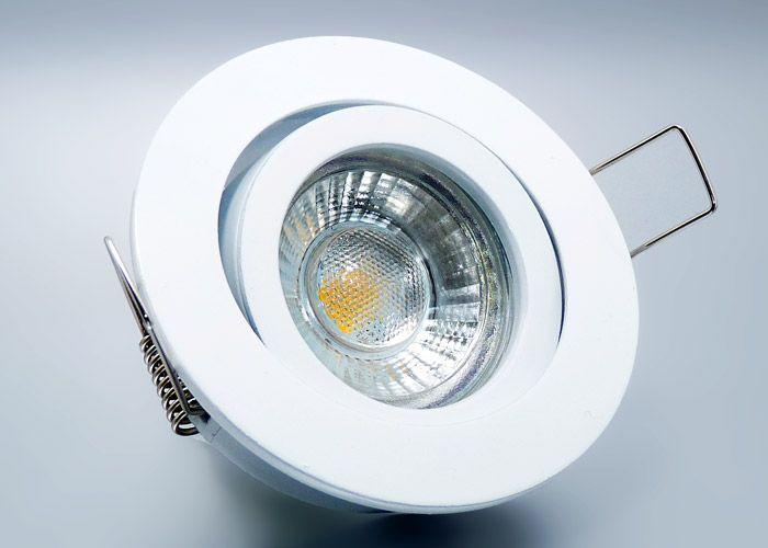LED #Einbaustrahler Set mit Marken GU10 LED Spot LC Light 5 Watt 9 - wohnzimmer komplett weis