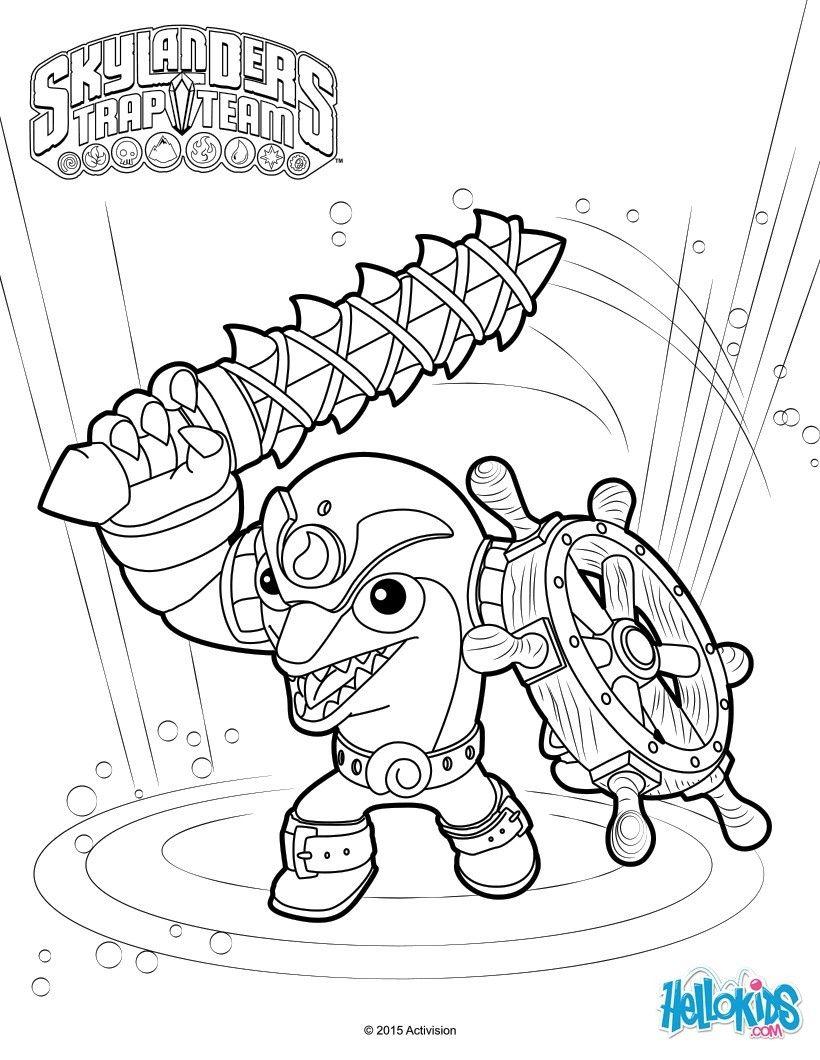 skylanders trap team character flip wreck coloring sheet more skylanders coloring pages on hellokids - Free Coloring Pages Skylanders