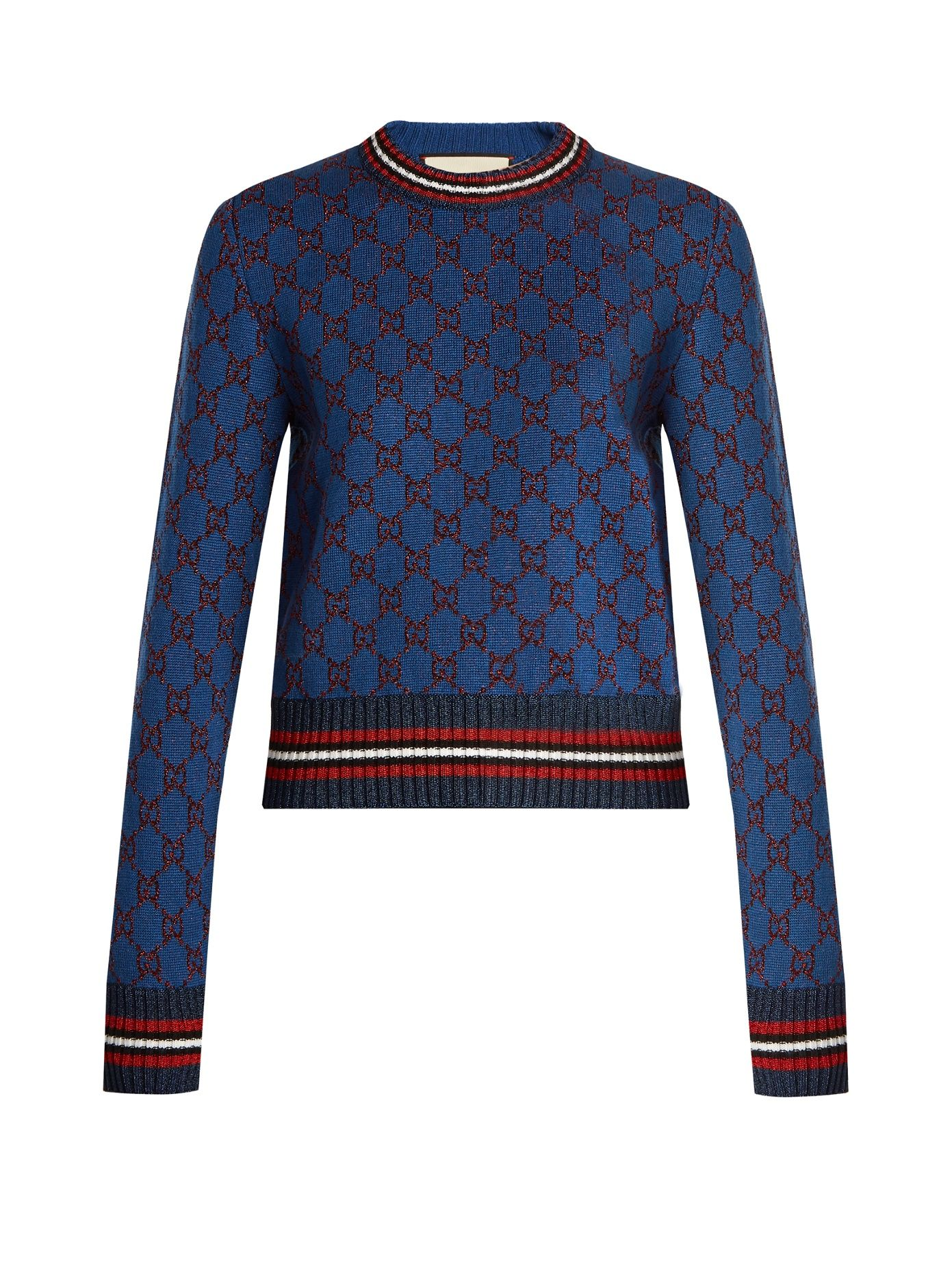 30432a189b Click here to buy Gucci GG jacquard-knit cropped sweater at ...