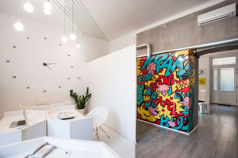 Great This Office Is Filled With Graphics And Artwork Inspired By Pop Culture.  DekoRatio Offices By