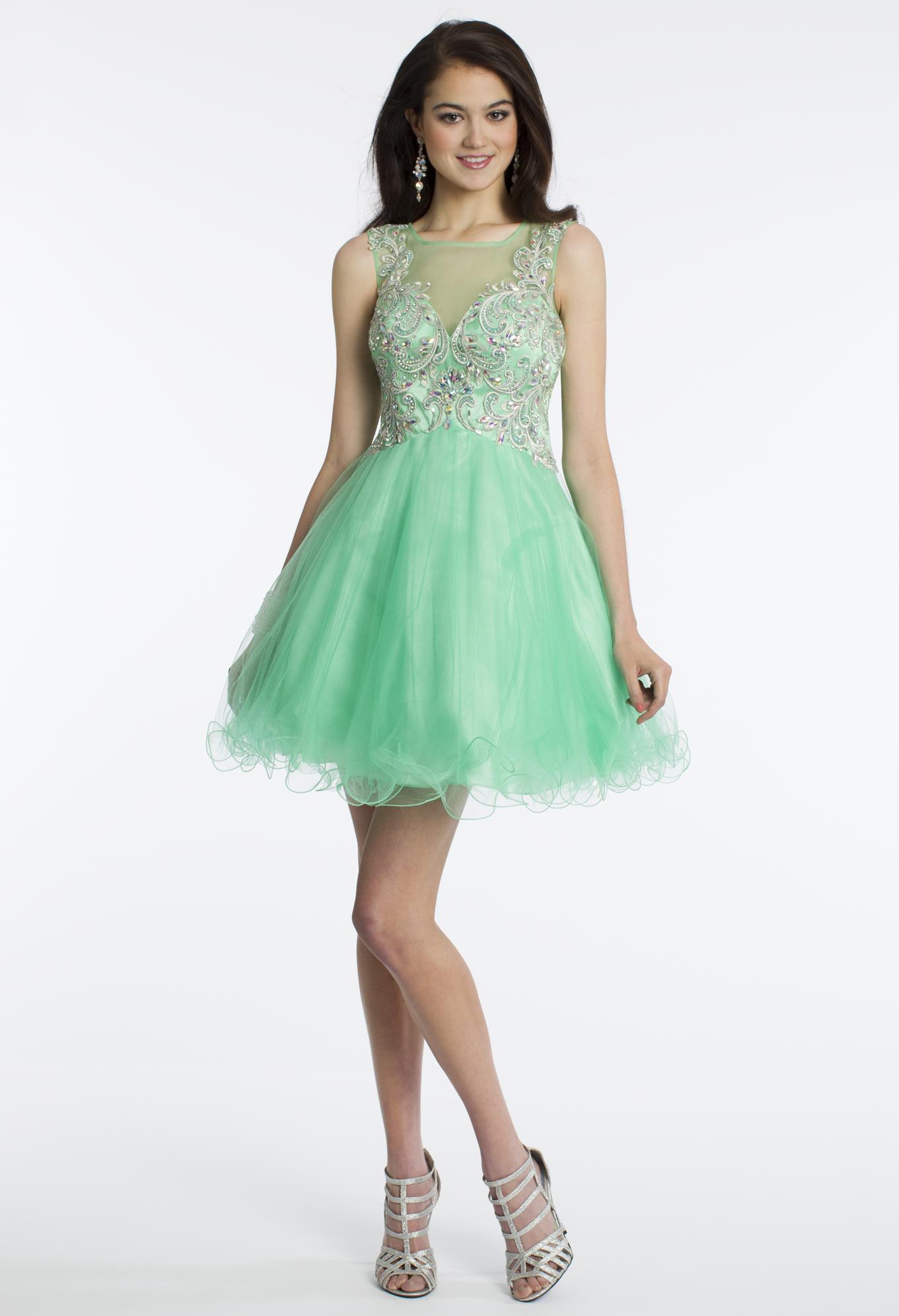 Camille la vie short illusion prom party dress gorgeous dresses