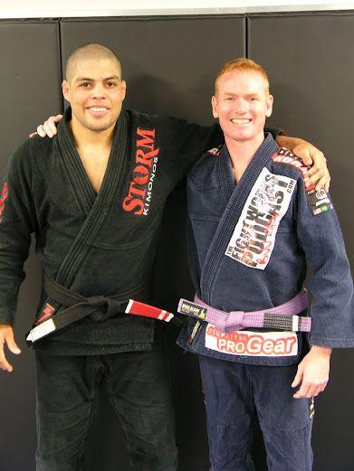 me and my instructor Andre Galvao at Atos jiu jitsu | Dangerzone