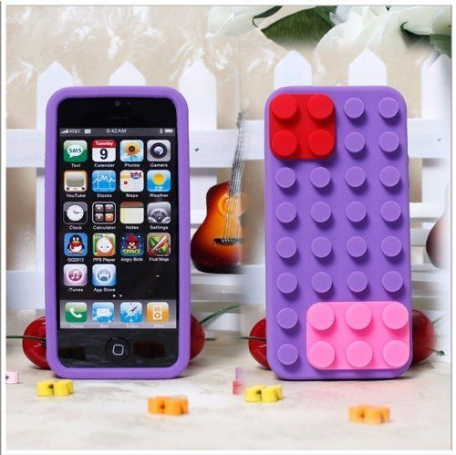 LiViTech(TM) Apple iPhone 5 3D Lego Brick Block Style Silicone Case Cover (Purple) - http://www.gamezup.com/livitechtm-apple-iphone-5-3d-lego-brick-block-style-silicone-case-cover-purple - http://ecx.images-amazon.com/images/I/51CfmRQYI%2BL.jpg