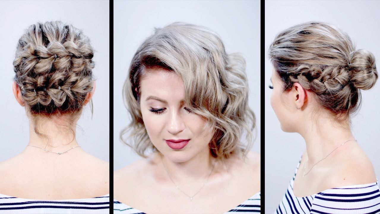 Valentine S Day Inspired Short Hairstyles Tutorial Milabu Short Hair Tutorial Hair Styles Hair Tutorial