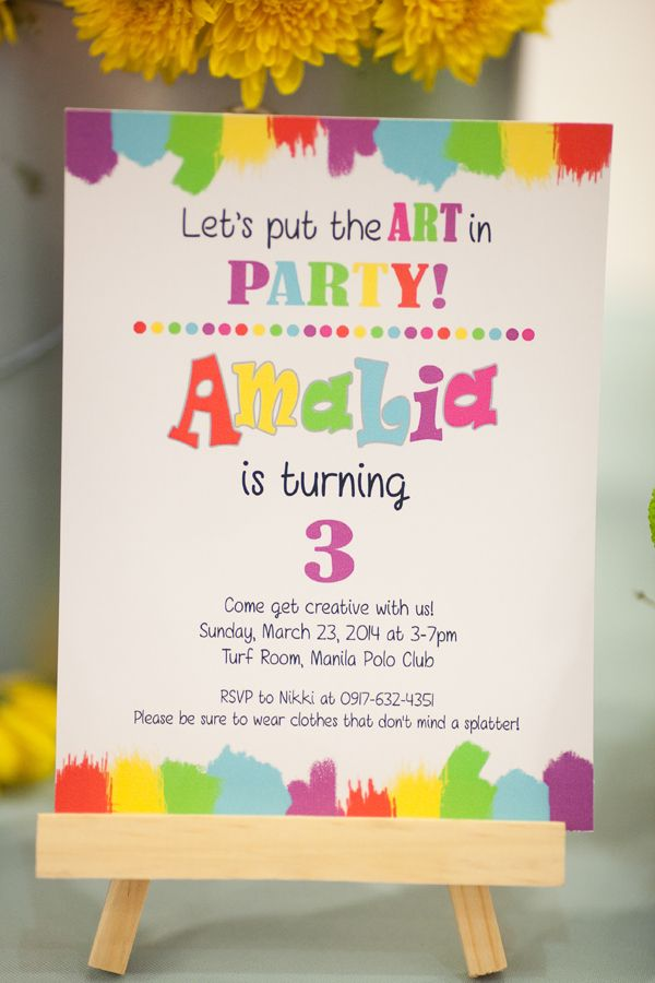 Art Attack Party Ideas