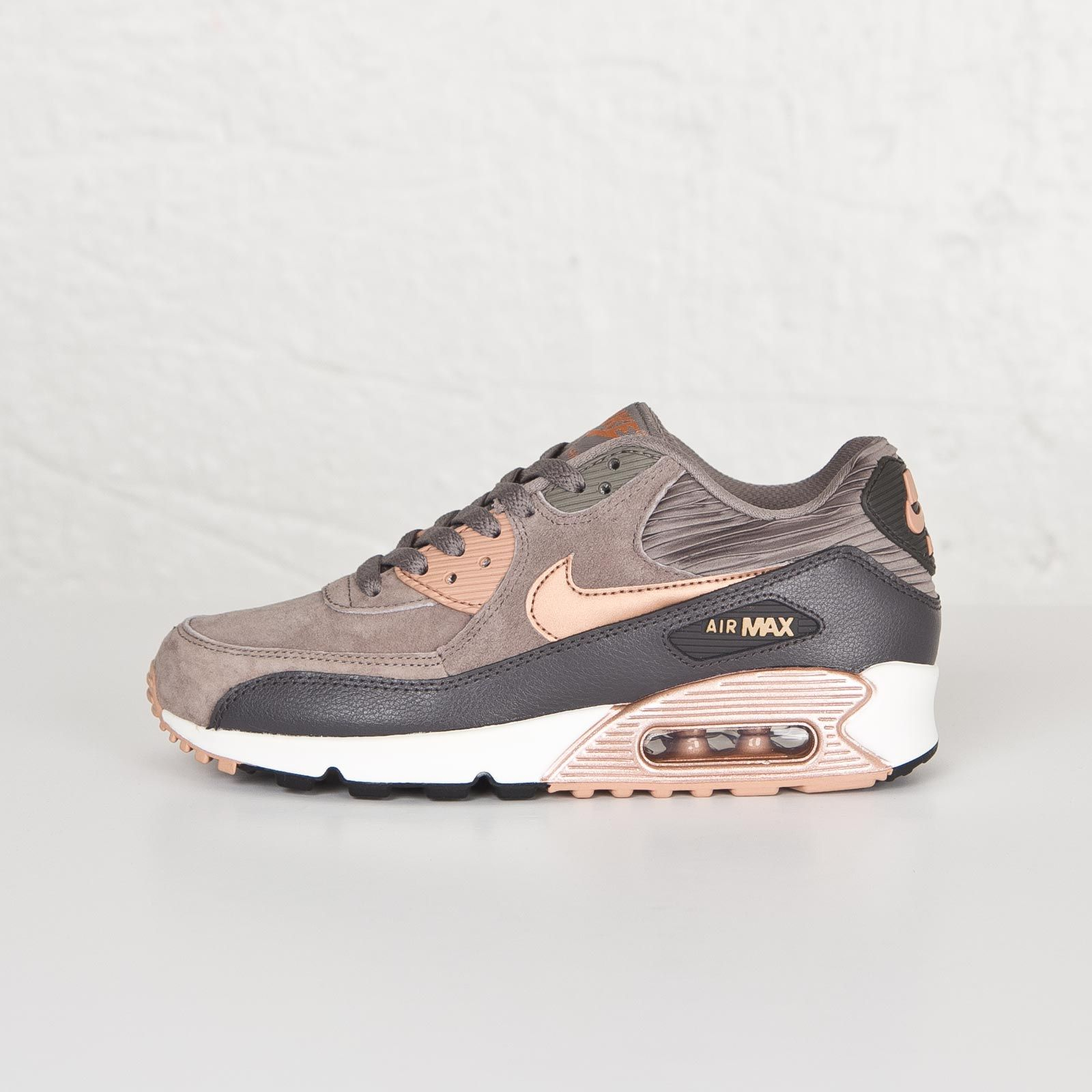 f7069e0a60b31 Damen Nike Air Max 90 Leather Iron rote Bronze-Sail