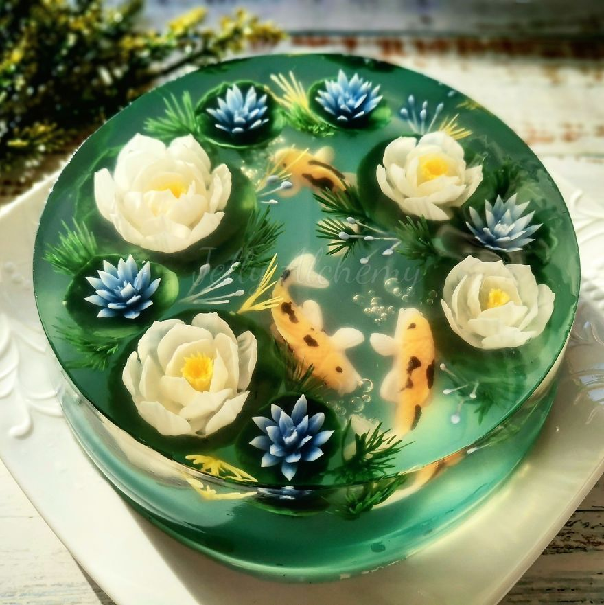 I Hand-Craft Seaweed Jelly Cakes With Intricate 3D