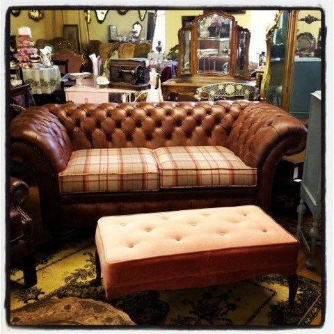 Tartan Chesterfield Sofa Don Y Cia Gaiety Antique And Vintage Store Galway Love Leather