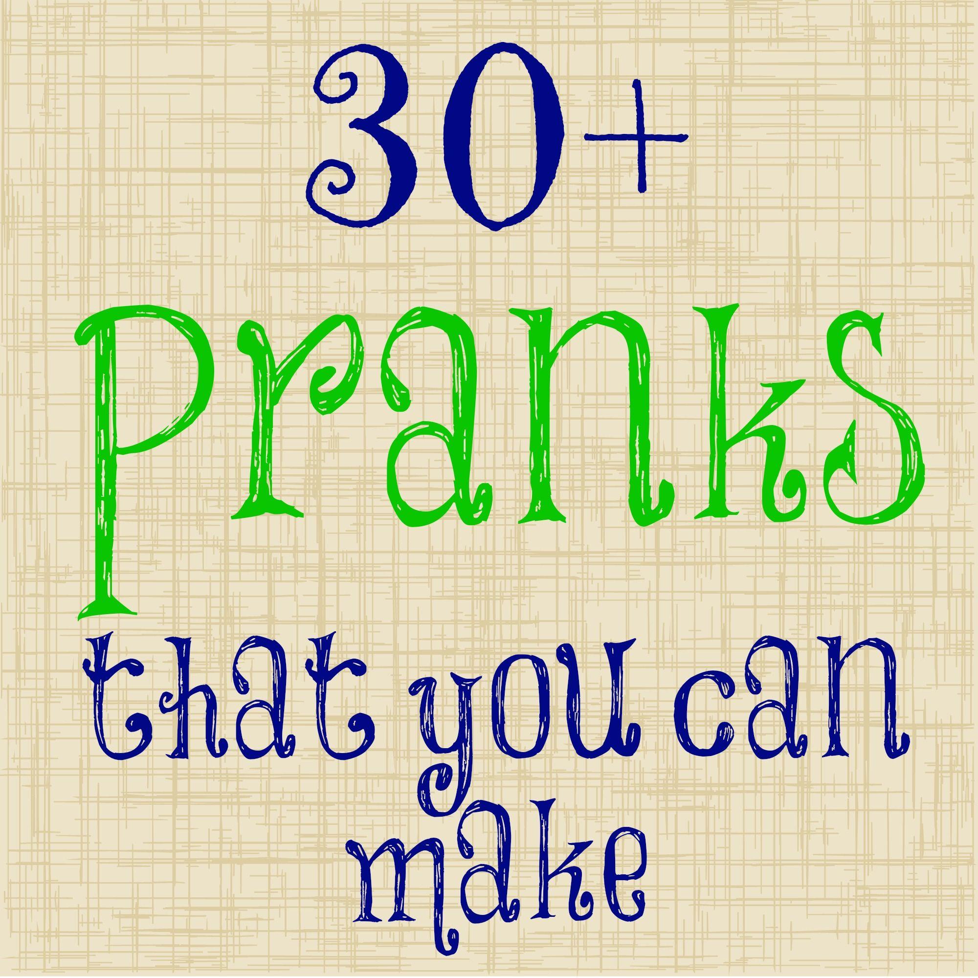 April Fool's Pranks that You Can Make | Dollar Store ...